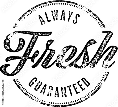 Fototapeta Always Fresh Vintage Rubber Stamp obraz