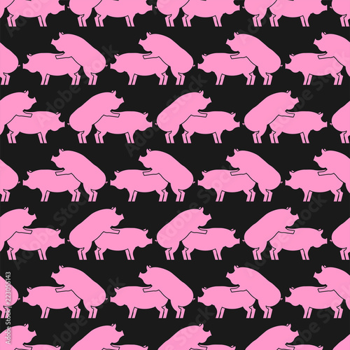 Canvas Pig sex pattern eamless