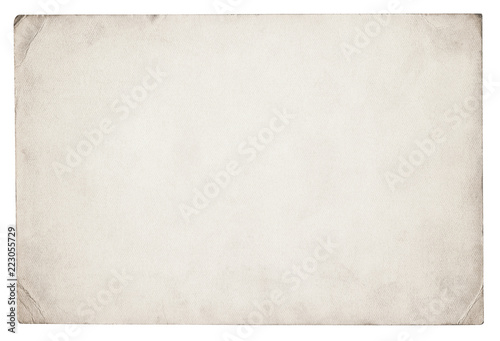 Poster Retro Vintage paper background isolated - (clipping path included)