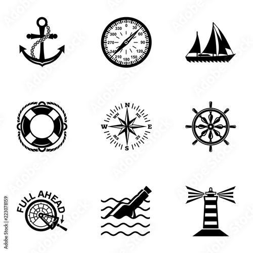 Fotomural Waterway icons set