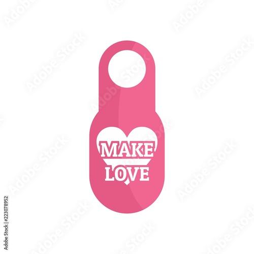 Photographie  Make love door tag icon