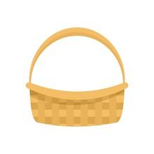 Farm Basket Icon. Flat Illustr...
