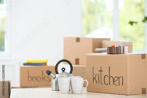 Moving Bo And Household Stuff Indoors E For Text