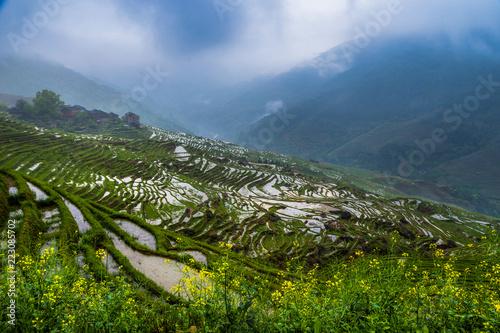 Guangxi guilin dragon ridge terrace