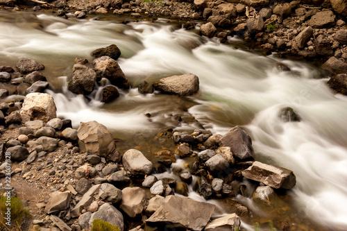 Fotografia, Obraz  Long exposure taken by Glacier National Park.