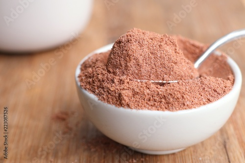 instant chocolate with powder