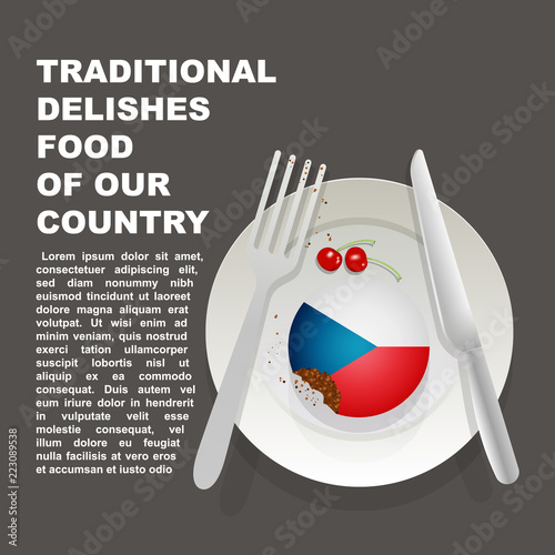 Photo  Traditional delicious food of Czech Republic country poster