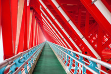 Zhangjiajie In Hunan Province Suspension Bridge Construction