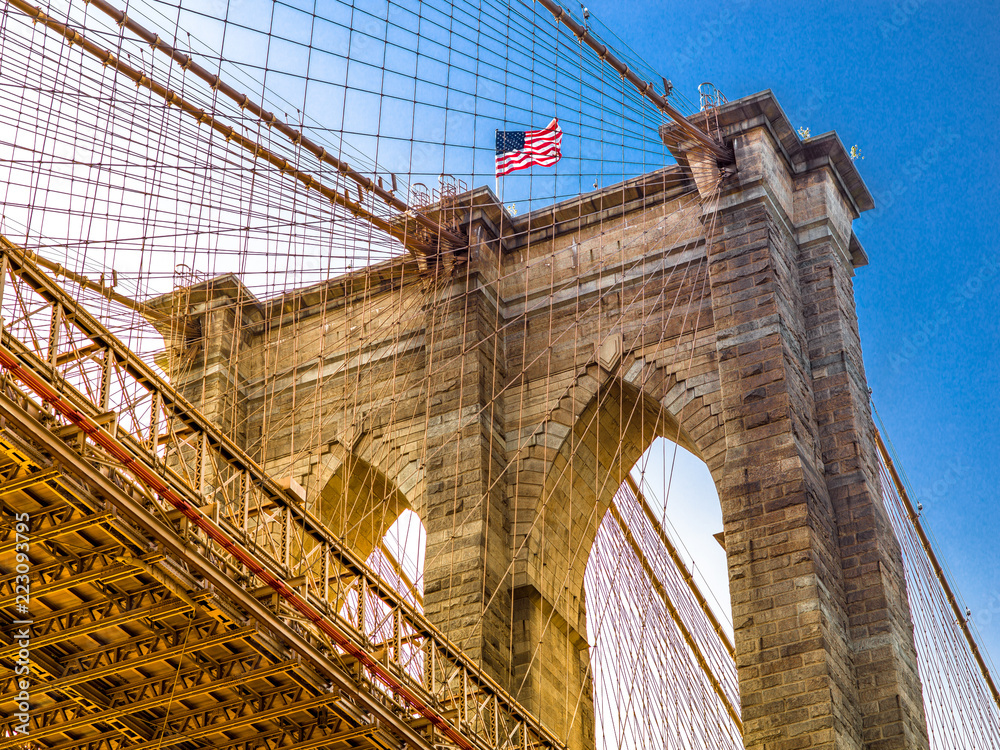 Fototapety, obrazy: Brooklyn Bridge in New York City