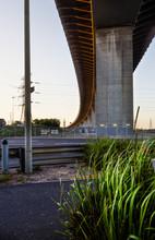 Evening Light Under The Westgate Bridge, Melbourne, Australia
