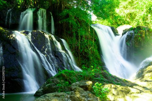 Pha Suea Waterfall at Tham Pla-Pha Suea National Park,Mae Hong Son,Northern Thailand
