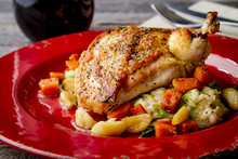 Spinach Stuffed Chicken With B...