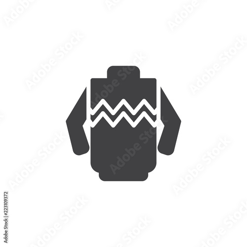 74aaceb9985 Winter warm sweater vector icon. filled flat sign for mobile concept and  web design. Pullover solid icon. Symbol, logo illustration.