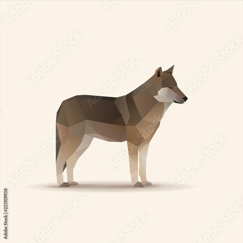 Fototapeta premium Ilustracja wektorowa wielokątne wilka
