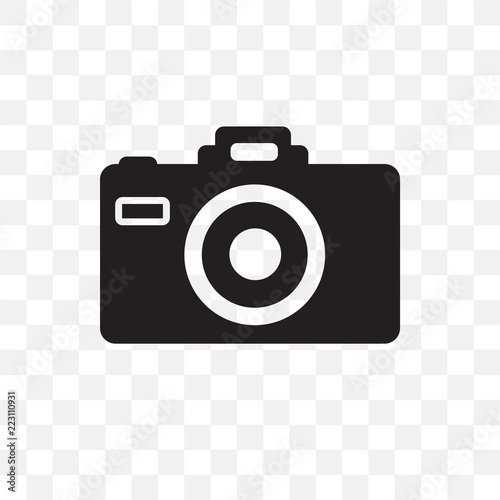 camera icon isolated on transparent background. Simple and editable camera icons. Modern icon vector illustration. Wall mural