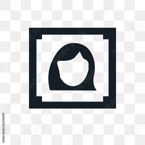 woman portrait icon on transparent background Canvas Print