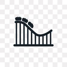 Roller Coaster Icon On Transpa...