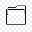 folders icon isolated on transparent background. Modern and editable folders icon. Simple icons vector illustration.