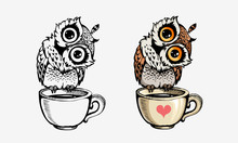 Cute Owls Collection Coloring ...