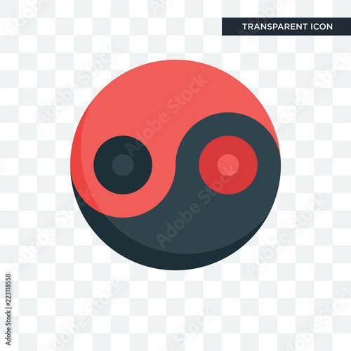 Fotografering  Yin yang vector icon isolated on transparent background, Yin yang logo design