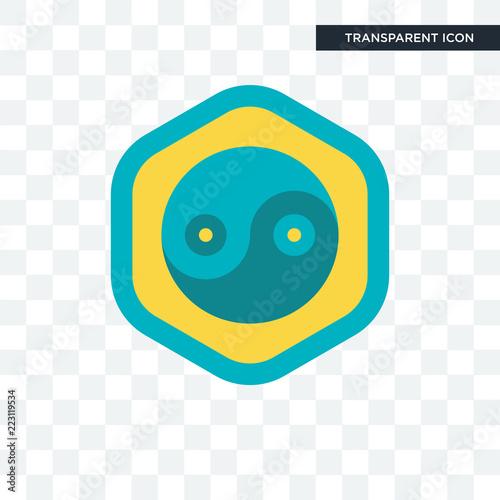 Fotografie, Obraz  Yin yang vector icon isolated on transparent background, Yin yang logo design
