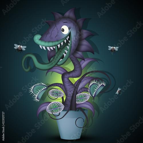 Fotografia illustration of carnivorous plant