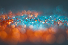 Abstraction Orange Bokeh On A ...
