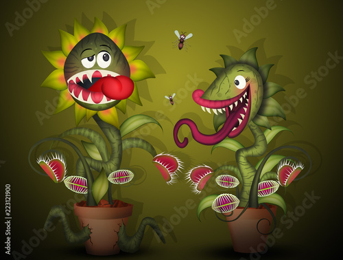 Fotografia illustration of carnivorous plants
