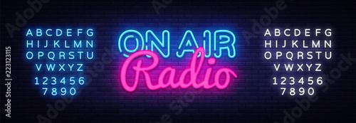 Fotografía  On Air Radio neon sign vector