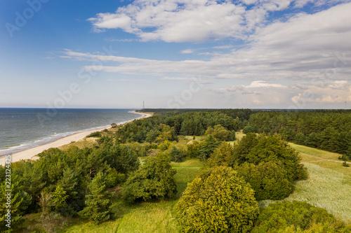 Fotografia  Nice and calm day by Baltic sea next to Liepaja, Latvia.