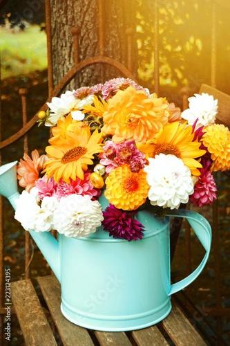 Dahlien Blumenstrauß - wunderschöner Spätsommer - Herbst