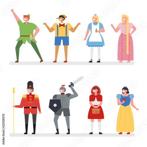Photo fairy tale story hero characters