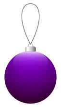 Purple Glass Christmas Ball On...