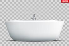 Modern Bath Isolated On Transp...