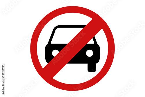 Prohibido los coches y vehículos.