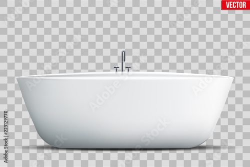 Modern bath isolated on transparent background Canvas