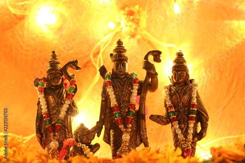 Hindu god Ram Darbar for Diwali festival