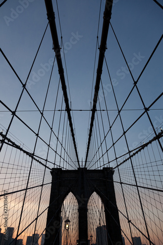Brooklyn Bridge in color