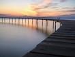 Sunset at the infinite bridge
