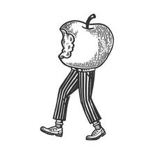 Bitten Apple Walks On Its Feet...