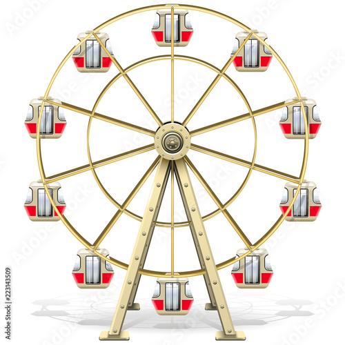 Fototapeta Vector Ferris Wheel obraz