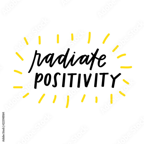 In de dag Positive Typography Radiate Positivity