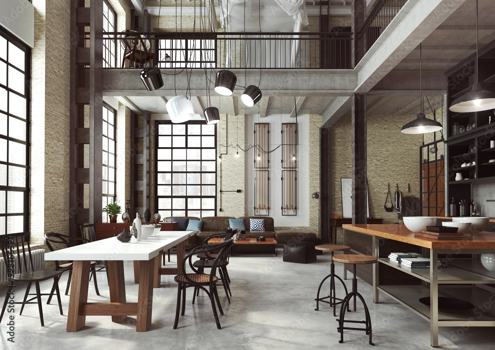 Loft Nowoczesne Wnetrze W Industrialnym Stylu Zaprojektowane Jako