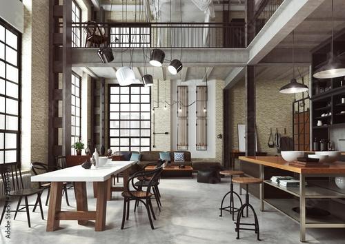 Loft Nowoczesne Wnętrze W Industrialnym Stylu