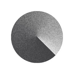 Obraz na SzkleMinimal Vector Stippled Circle Shape. Dotwork Art Illustration. Stippling Background
