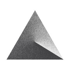 Obraz na SzkleMinimal Vector Stippled Triangle Shape. Dotwork Art Illustration. Stippling Background