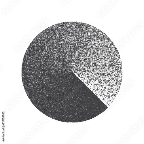 Valokuva  Minimal Vector Stippled Circle Shape