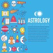 Astrology house icons outline design illustration. Thin line horoscope items concept. Vector illustration layout background