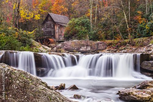 Wall Murals Waterfalls Glade Creek Grist Mill