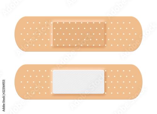 Tablou Canvas Adhesive medical plaster strip bandage. Medical patch aid strip